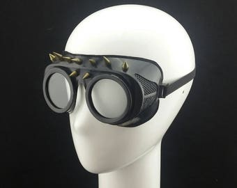 Cyber Rubber Goggles with Clear Lenses and spikes 2 minion goggle cyberpunk aviator sunglasses cosplay glasses cyber goggles goggles