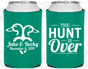 The Hunt is Over Wedding Gift, Unique Wedding Gift, Hunting Wedding Gift, Duck Hunting Wedding Gift, Wedding Party Coolies (C523)