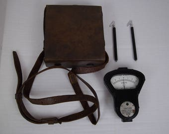 vintage volt meter by w.e.c , military test equipment
