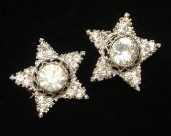 Rhinestone Star Scatter Pins Vintage