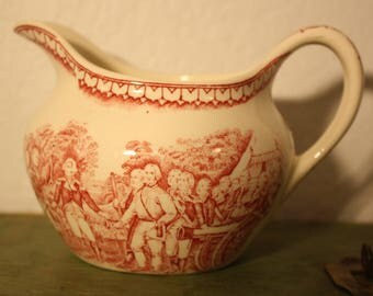 Homer Laughlin Currier and Ives Cream Pitcher