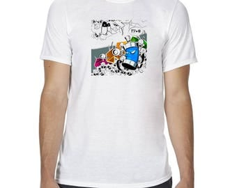 Unisex Graffiti T Shirt