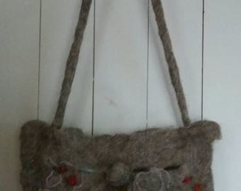 Pretty Merino wet felted handbag.