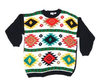 Vintage Wester Print Sweater