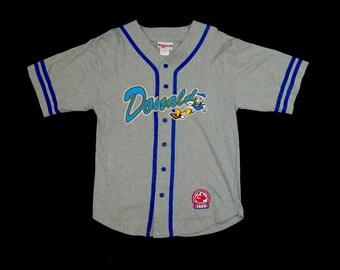 Vintage Donald Duck Baseball Jersey