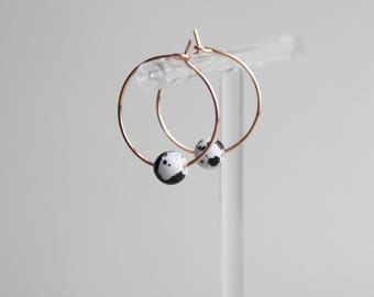 Marble Glass Gilded Hoop earrings