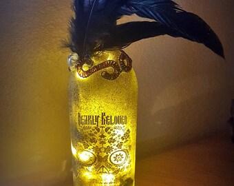 Dearly Beloved Wine Bottle Light with LED Lights