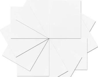"Pre-cut Sheets Glitter Heat Transfer Vinyl - White - 12 Sheets - 10""x12"""