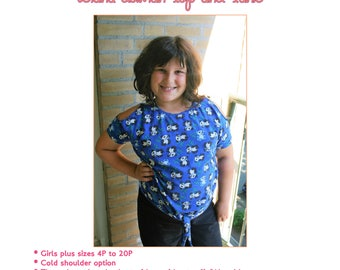 Girls PLUS SIZE Diana dolman top and tunic