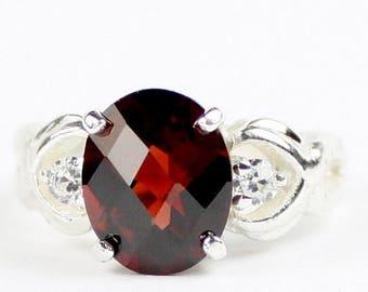 On Sale, 30% Off, Mozambique Garnet, 925 Sterling Silver Ladies Ring, SR243