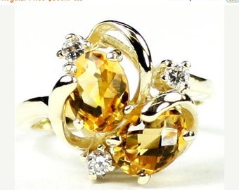 On Sale, 30% Off, Off, Citrine, 18Ky Gold Ring, R016