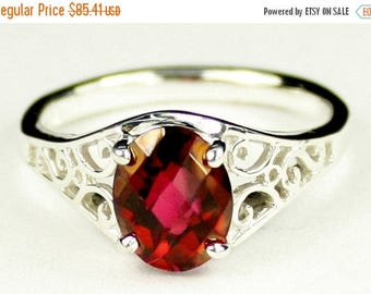 On Sale, 30% Off, Crimson Fire Topaz, 925 Sterling Silver Ring, SR005