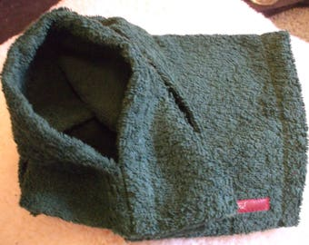 Doggy Dressing Gown - Thick luxury 100% cotton - Dark Green - Four sizes