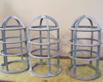 3 Adalet Vintage Industrial Light Fixture Cages Covers Refurbish