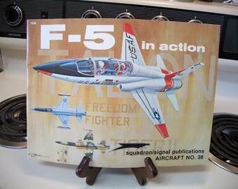F-5 in action by Lou Drendel 1980, vintage aviation book, airplane book, vintage airplane book