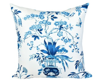 Ming Vase Porcelain designer pillow cover - Schumacher fabric - 1 SIDED OR 2 SIDED - Choose Your Size