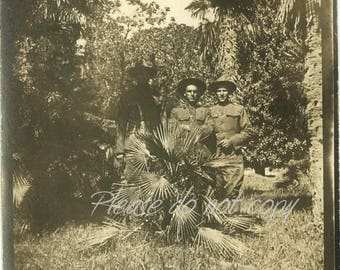 World War One Soldiers in Southern France ~ Vintage Snapshot Photo