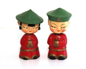Vintage Japanese bobble head figures nodders 50s 60s