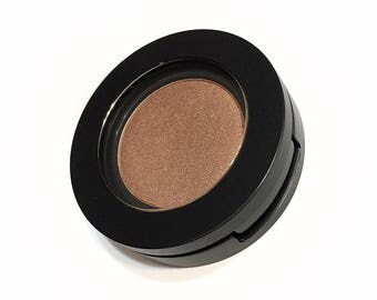 ORGANIC LUCKY PENNY Pressed Mineral Eye Shadow -  Natural Botanical Plant Makeup - Organic Vegan Gluten Free Mineral Makeup