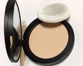 SOFT BEIGE Natural Mineral Pressed Foundation or Setting Powder - Gluten Free Vegan Makeup