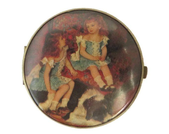 Vintage Mirror Compact, West Germany Flapjack Mirror, Gift for Her