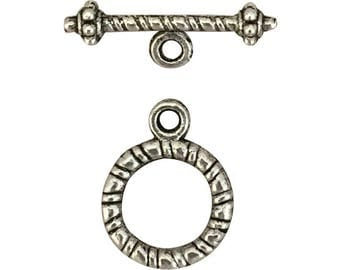 12 Sets Silver Toggle Clasp 17x13mm by TIJC SPT009