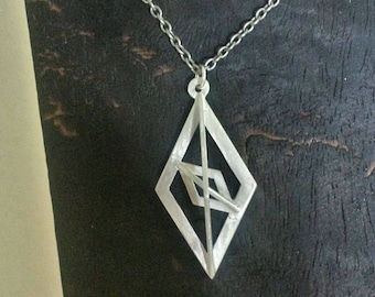 Geometric Sterling Silver Pendant