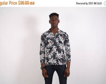 Closing SALE - 70s Vintage Polyester Shirt - 70s Disco Shirt - Disco Shirt - 1718
