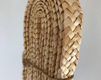 Natural Straw Ribbon Braided - Millinery Supply - Basket, Hat, Purse Making - Bow - Ribbon - Fabulous - Natural Weave Straw - Haberdashery