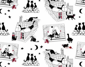 Cats Night Out - Nutex Patchwork Quilting Fabric