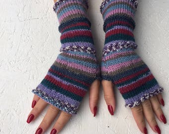 2017 new Knit Fingerless gloves Mittens Long Arm Warmers Boho Glove Women Fingerless Wrist long arm warmers Ready to ship!