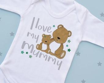 I Love My Mummy Baby Bear Vest