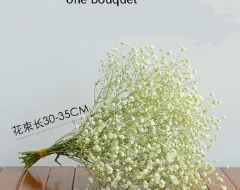 Real Flowers Babys Breath Bouquet Dried Babysbreath For Wedding Aisle Decoration Table Centerpieces Rustic Wedding Flowers