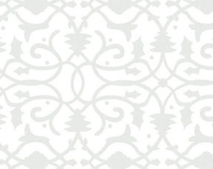 """19"""" REMNANT Christmas Pure & Simple - Brocade in Mist - Cotton Quilt Fabric - Nancy Halvorsen for Benartex - Pure and Simple (W1780)"""