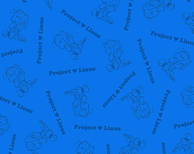 PROJECT LINUS - Blender in Royal Blue - Peanuts Charlie Brown Cotton Quilt Fabric - Quilting Treasures Fabrics - 22326-Y (W4016)