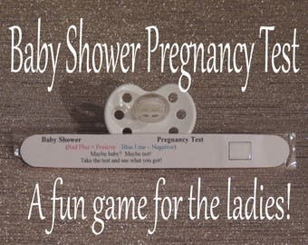 Baby Shower Pregnancy Test Game - Baby Shower Game - Baby Shower Games