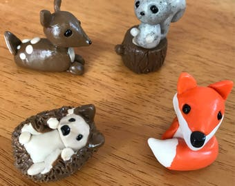 Polymer woodland cake toppers
