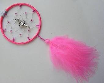 Ballerina Hot Pink MINI Dreamcatcher Girls Bedroom gift Present Ballet Dancer UK