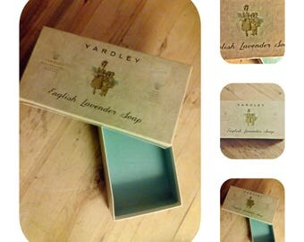Yardley Vintage English Lavender Soap Box Mid Century
