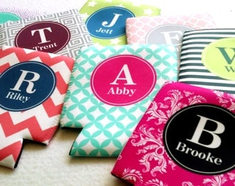 14 Personalized Can Coolies - Perfect for Weddings, Bridesmaids & Bachelorette Parties