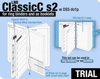 Trial [PERSONAL ClassicC S2 with DS5 do1p] November to December 2017 - Filofax Inserts Refills Printable Binder Planner Midori.