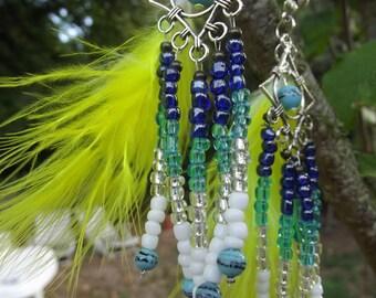 pierced dangle feather earrings