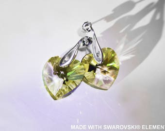 SWAROVSKI Crystal heart earrings / 925 sterling silver