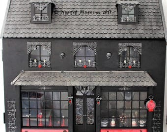 Gothic Doll House Shop, Night Club and BDSM Absinthe Lounge in 1:12 scale - Made To Order