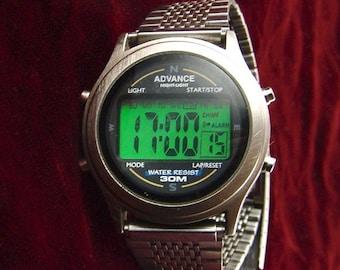 35% OFF SALE Rare Vintage Advance Digital Quartz Wristwatch, Multi-Function, Runs E2482