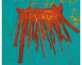 CY TWOMBLY - 'Leaving Paphos...' - rare original exhibition poster - c2009 - large (Gagosian Gallery, Athens)