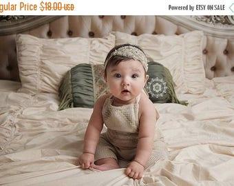 SALE Marcella Gorgeous Rhinestone and Beaded Headband Halo Tiara Beautiful Newborn Photo Prop Baby Headband