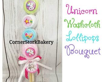 Washcloth Lollipops Bouquet