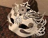 Mask, Masquerade Mask, Steampunk, Halloween Mask, Mardi Gras Mask, Fantasy Mask, Watch Gears, Steampunk Costume, Michanical, Cosplay, Unisex