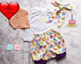 Baby Girls Smash Cake outfit, Baby girls 1st birthday outfit, Cake smash outfit, Sweet tweets, 4 piece smash cake outfit size 1